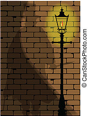 The Ripper - The shadow of Jack the Ripper on an old...