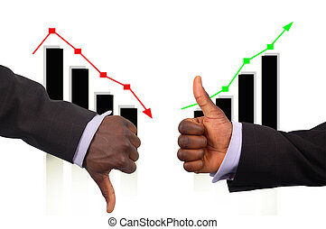 The Rise and Fall - This is an image two hands demonstrating...