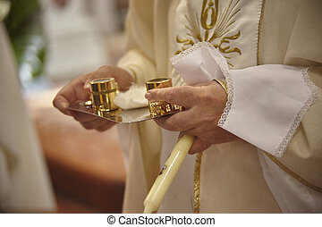 The rite of Christian baptism.