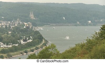 The rive Rhine in germany