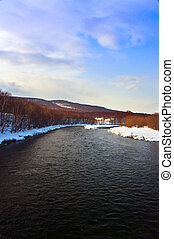 The river in the winter