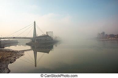 The river Kuban in Krasnodar city, Russia