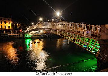 The River Liffey in Dublin, Ireland.