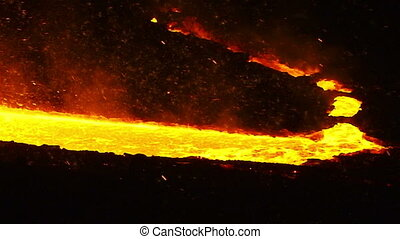 The river of molten metal