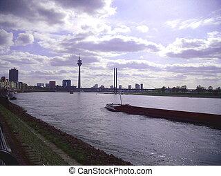 The River Rhine at Dusseldorf