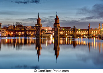 The River Spree and Oberbaumbruecke - The River Spree and...
