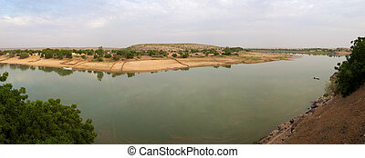 The river the senegal in Mauritania
