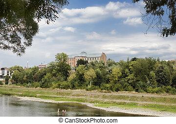 The river Uzh in Uzhgorod