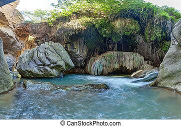 The river Vorotan in Armenia at the bottom of the Vorotansky gorge
