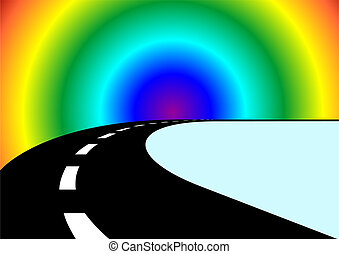 The road and the rainbow