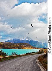 The road around lake