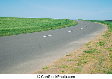 The road goes beyond the horizon,