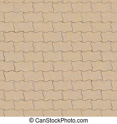 The road is lined with coffee-colored bricks with textured surface. Texture or background