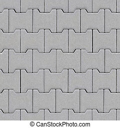 The road is lined with gray bricks. Texture or background