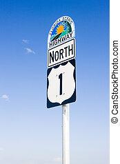 the road number 1, Florida Keys, Florida, USA