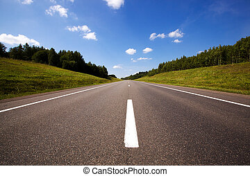 the road (summer) - the asphalted road to summertime of year...