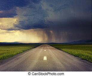 road - the road to storm ( photo compilation. The grain and ...