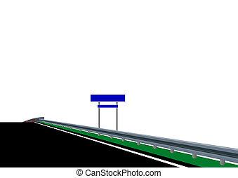 The road to the bridge