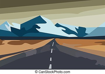 The road to the snowy mountains