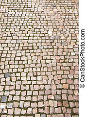 road was paved with stone