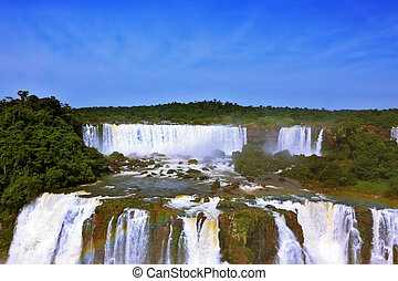 The roaring waterfalls in South America - Iguazu