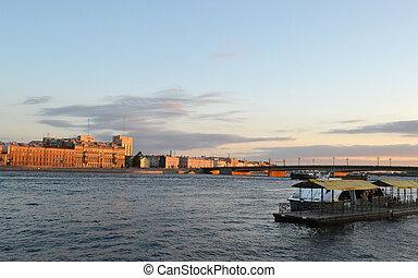 The Robespierre Embankment in St.Petersburg