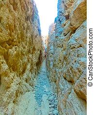 The rock canyon at Dahab, Sinai, Egypt - The people at ...