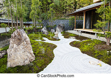 The rock garden in an Hase Temple  Hasedera