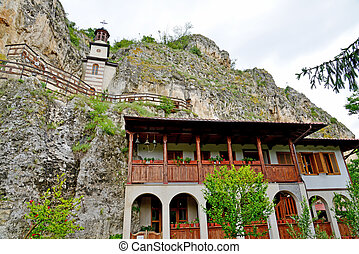 """The rock monastery """"St Dimitrii of Basarbovo"""" in Bulgaria"""