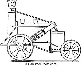 The Rocket, vintage engraving