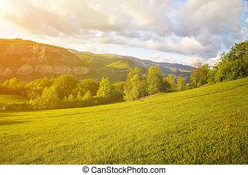 The Rocks of Lakatnik at sunset, Bulgaria