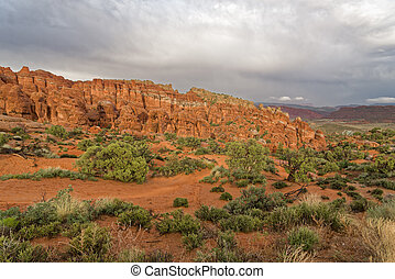 The Rocks of the Arches national Park - Landscape a look on...