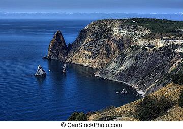 Rocky coast of Black sea