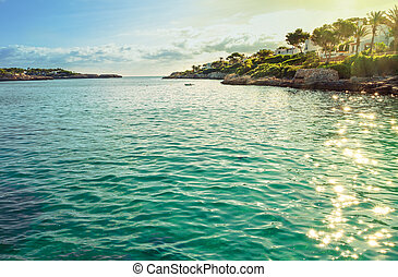 The rocky coast of Mallorca island. Spain