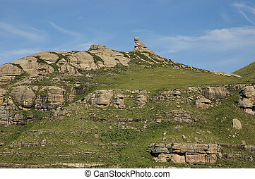"The rocky outcrop known as ""The Tortoise\"" in the..."