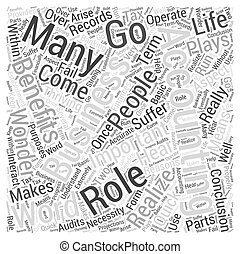 The Role And Benefits Of Accountancy Word Cloud Concept