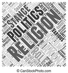 The Role of Religion in Presidential Politics Word Cloud Concept
