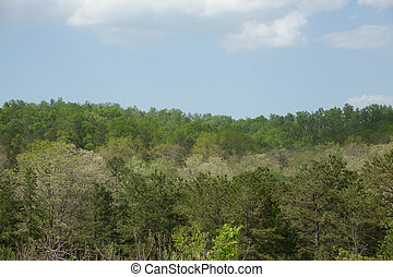 Ozark Mountains - The rolling hills of the Ozark Mountains.