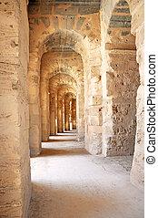 the Roman Amphitheatre of El Jem
