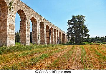 The Roman antique aqueduct