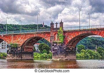 The Roman bridge in Trier