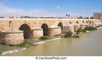 The Roman Bridge Of Cordoba Andalucia, Spain .