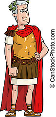 The Roman emperor on a white background vector illustration