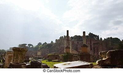 The Roman Forum, Roman landmark, the ruins