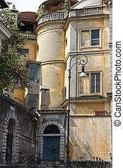 the Roman villa on the hill Janiculum . Rome, Italy