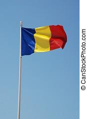 Romanian national flag - The Romanian national flag flying...
