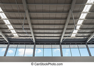 The roof in modern buildings.