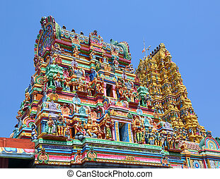roof of Hindu temple