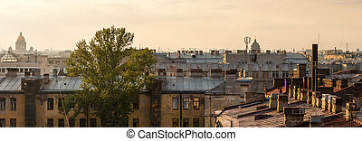 the roof of Sankt- Peterburg - view of the city from the ...