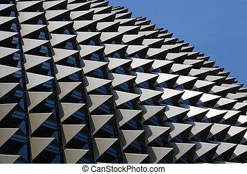Esplanade - The roof of the Esplanade theatre in Singapore. ...